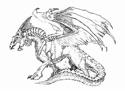 Dragon Scary Coloring Dragons Pages Adult