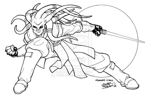 Star wars kit fisto coloring pages sketch coloring page