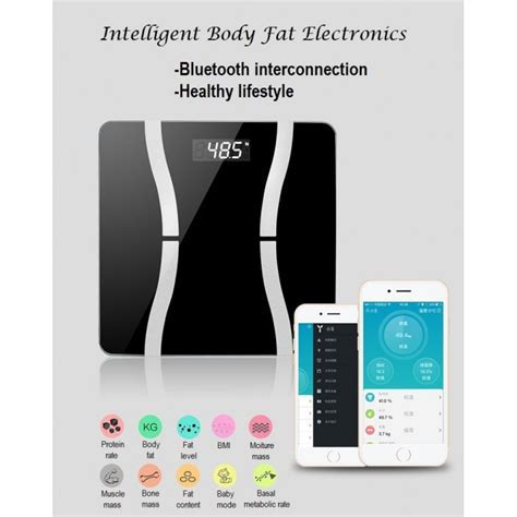 180KG Bluetooth 4.0 LED Digital Smart Weight Scales Body