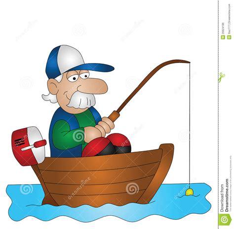 pescador dos desenhos animados ilustracao  vetor