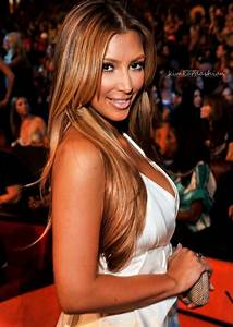Kim Kardashian in honey blonde caramel highlights | Hair ...