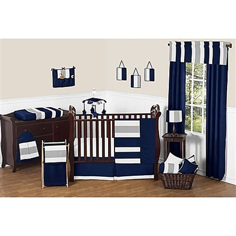 navy and grey crib bedding sweet jojo designs navy and grey stripe crib bedding