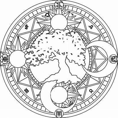 Mandala Moon Coloring Sun Pages Mandalas Space
