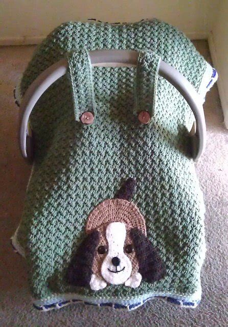 crochet baby car seat cover  pattern