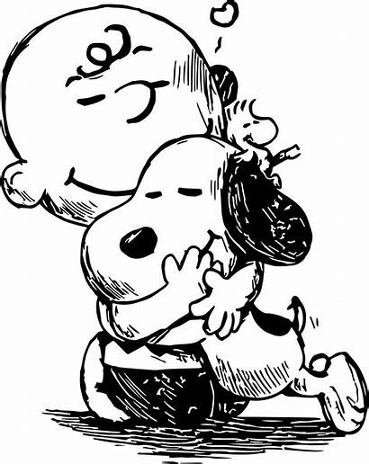 Charlie Brown Snoopy Coloring Sketch Clipart Pages
