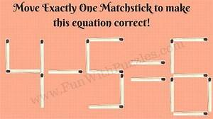 Matchstick Maths Picture Puzzles For Kids With Answers