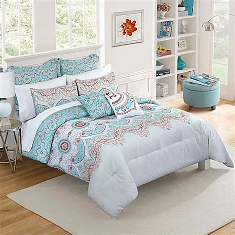 Vue® Cordova Reversible Comforter Set  Bed Bath & Beyond