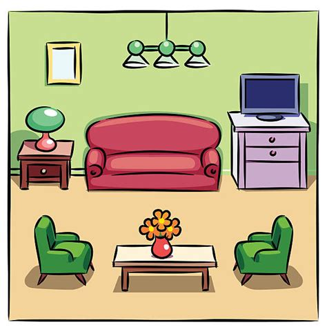 Room Drawing Clipart living room clipart pencil and in color living room clipart
