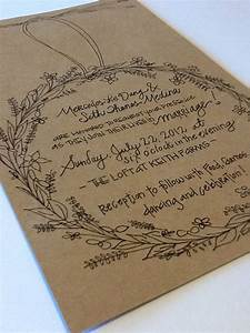 sweet wreath wedding invitation suite custom hand With hand lettered wedding invitations