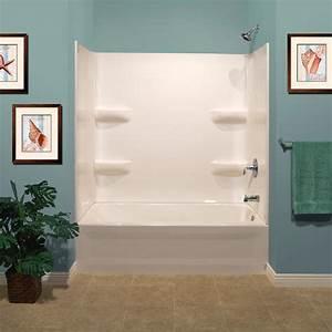 Lyons Elite Corner Shelf 60quot X 32quot X 59quot 3 Piece Bathtub