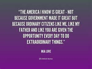 I Love America Quotes