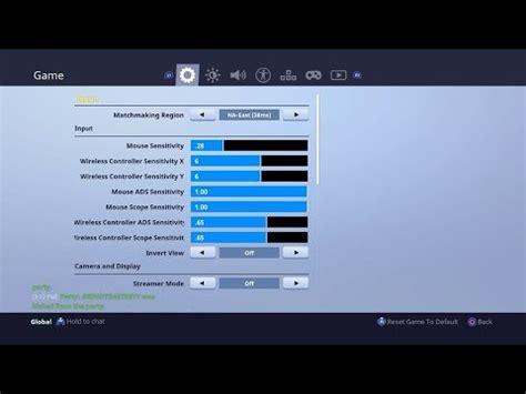 controller settings  fortnite battle royale