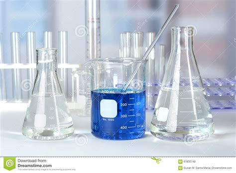 glass tube table l laboratory glass on table stock photo image of flask