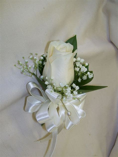 wedding corsages  mothers ivory rose corsage