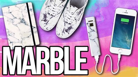 Diy Marble Everything! ♥ Shoes, Notebook, Iphone Charger
