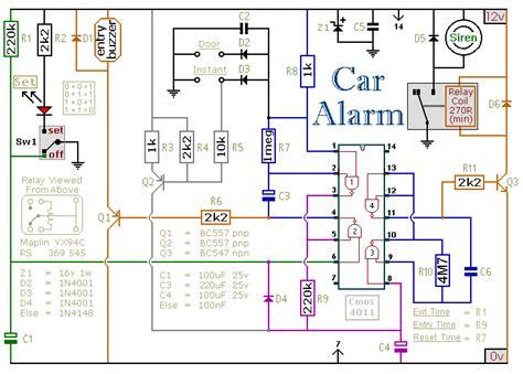 Circuit Making Schema Alarm Led Speaker Remote