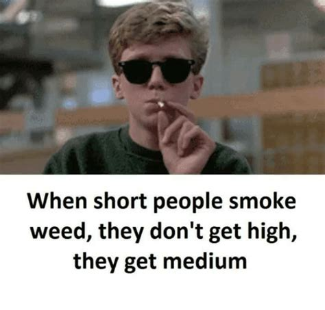 Smoke Weed Meme - when short people smoke weed they don t get high they get medium meme on sizzle