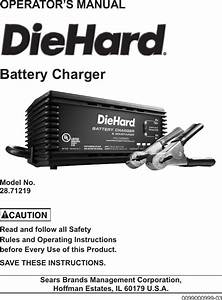 Craftsman Diehard Battery Charger Maintainer Owners Manual