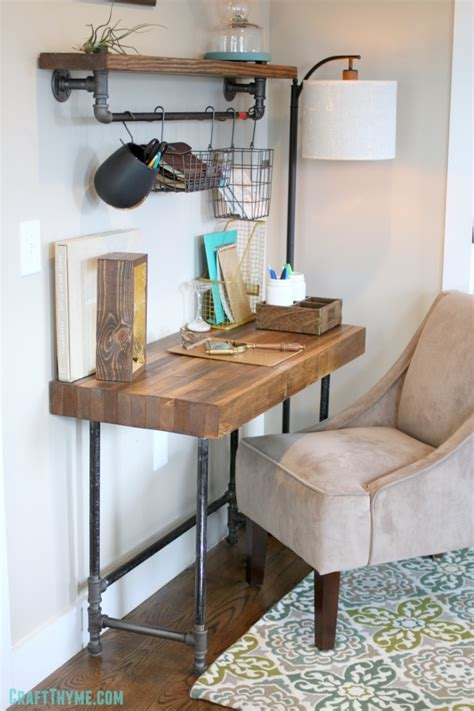 building  custom industrial wooden desk craft thyme