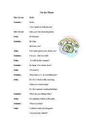 english worksheet   phone conversation  images