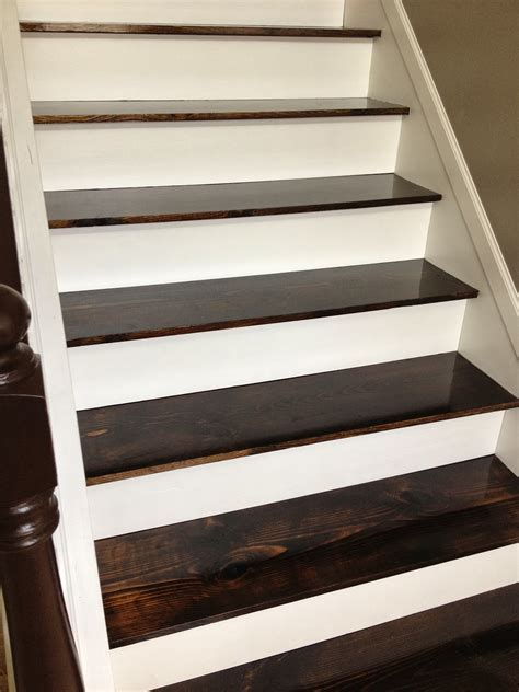 Remodelaholic   $60 Carpet to Hardwood Stair Remodel
