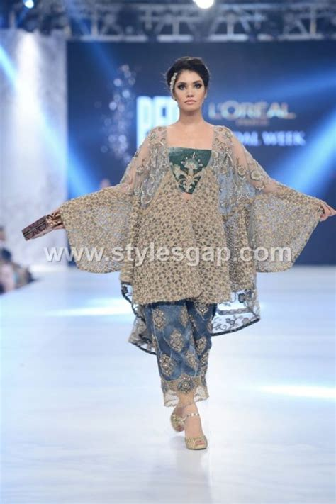 latest pakistani cape style dresses   top designer