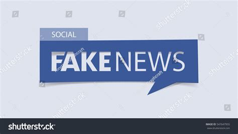 Banner News Template by Fake News Banner Isolated On Light Stock Vector 547647955