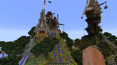 steampunk island  minecraft
