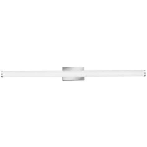 Led Vanity Lights by Lithonia Lighting Contemporary Cylinder 4 Light Chrome 3k