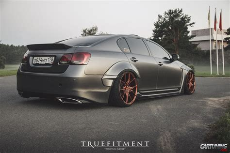 stanced lexus stanced lexus gs300 widebody rear