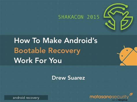 how to make fan work on android how to make android 39 s bootable recovery work for you by