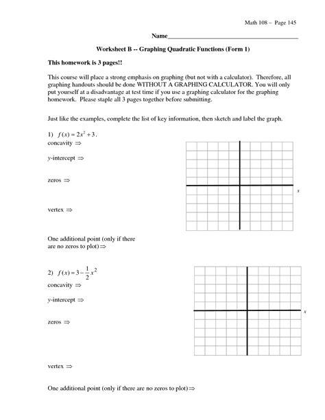 17 best images of standard to vertex form worksheet