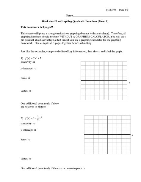 17 Best Images Of Standard To Vertex Form Worksheet  Quadratic Vertex Form Worksheet, Quadratic