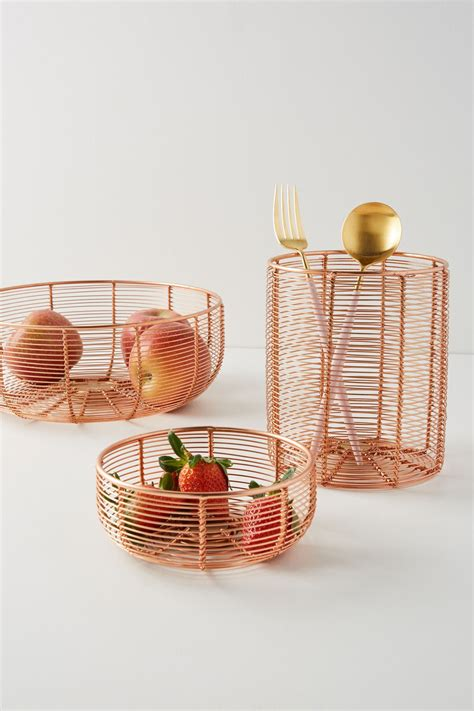 view  copper wired berry basket berry baskets fruit basket gift baking set