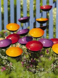 Metal Poppy Flowers for Garden