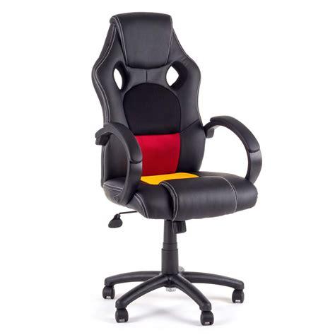 siege de bureau gaming chaise de bureau siége de bureau fauteuil racing gaming