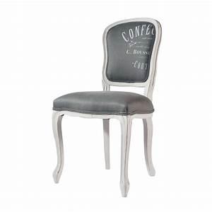 Chaise En Bois Massif : chaise en lin et bois massif gris clair versailles maisons du monde ~ Teatrodelosmanantiales.com Idées de Décoration