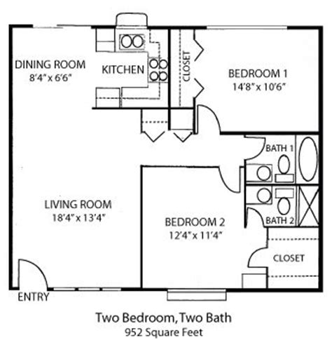 Spectacular Bedroom Bath House Plans by 25 Best Ideas About 2 Bedroom House Plans On