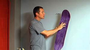 How To Hang a Skateboard with A Sk8ology Deck Display ...