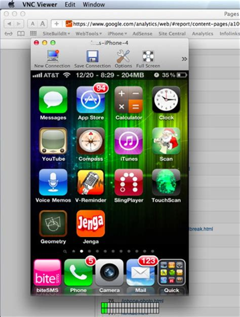 display iphone on computer discover the iphone network capabilities with iphone vnc