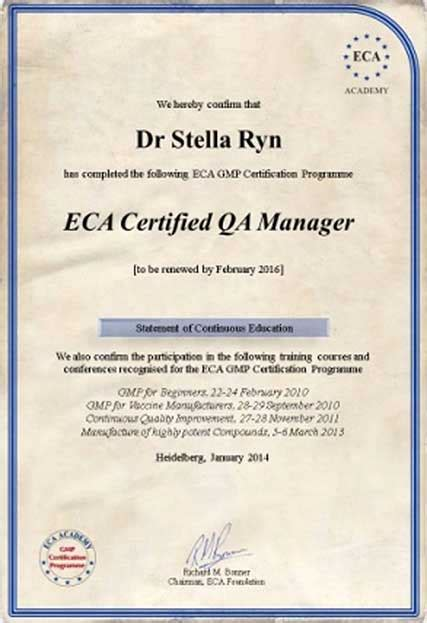 gmp  gdp certification programme eca academy