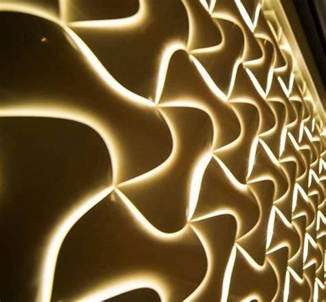pvc 3d panels with led lighting for wall art restaurant design ideas