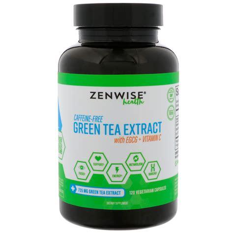 is green tea caffeine free zenwise health caffeine free green tea extract with egcg vitamin c 120 vegetarian capsules