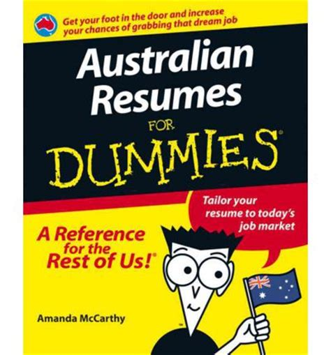 australian resumes for dummies r pdf kindle