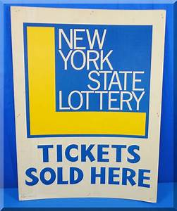 1971 1972 VINTAGE NEW YORK STATE LOTTERY TICKETS SOLD HERE ...
