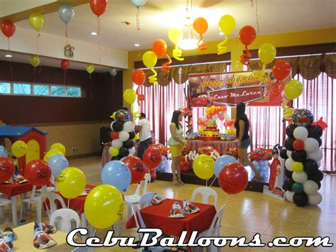 cars themed balloon decoration at 39 s place cebu balloons and supplies