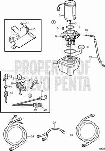 Volvo Penta Exploded View    Schematic Trim Pump  Later
