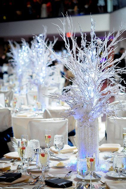 winter theme centerpiece centerpieces winter  sweet