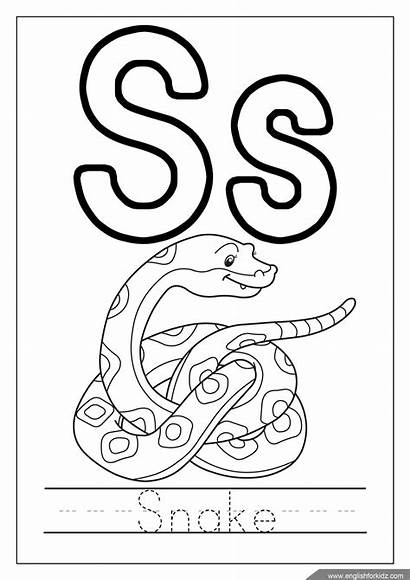 Coloring Alphabet Pages Snake Letter Letters Queen