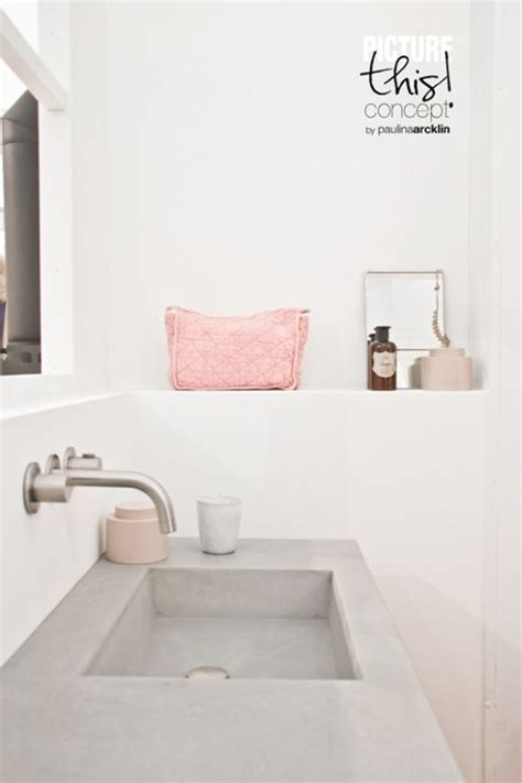 Light Pink Bathroom by I M Madly Falling In With Grey And Light Pink Pairing